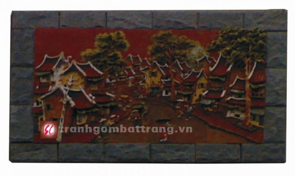 Tranh gốm phố cổ Hà Nội